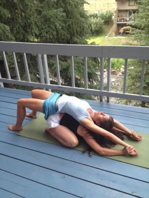 Partner Yoga Pose